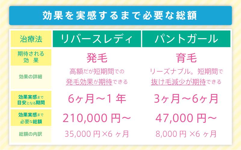 東京ビューティクリニックの治療総額の目安金額